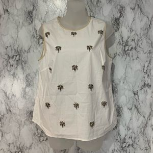 J.Crew Beaded Gemstone Tank Top New with tags